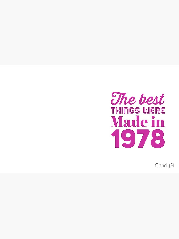 Made in 1978 by CharlyB