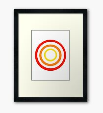 Colored circles Framed Print