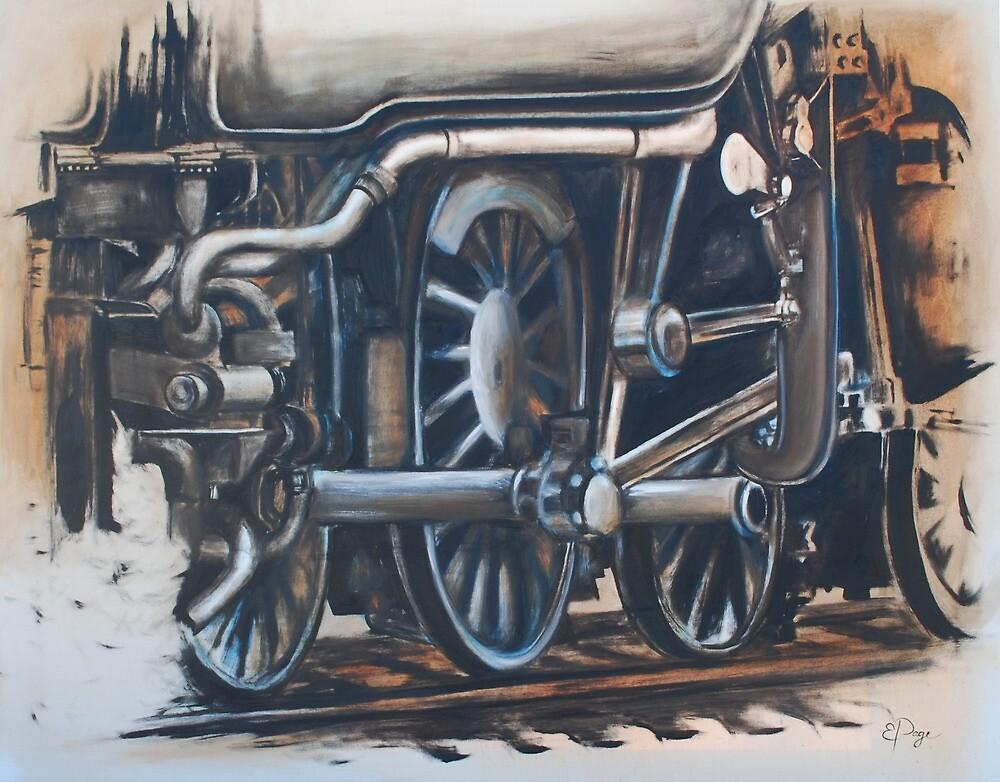 Steam Train Engine by emilypageart
