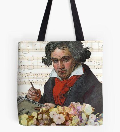 Ludwig von Beethoven Grunged III Tote Bag