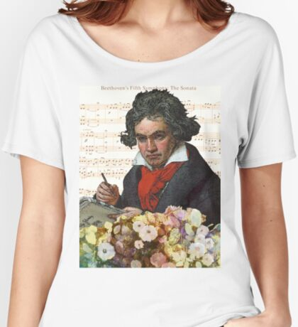 Ludwig von Beethoven Grunged III Women's Relaxed Fit T-Shirt