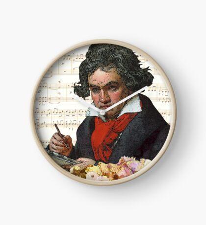 Ludwig von Beethoven Grunged III Clock