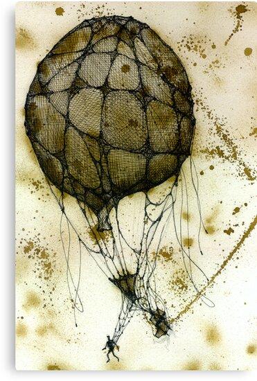 The parachutist by Daniele Lunghini