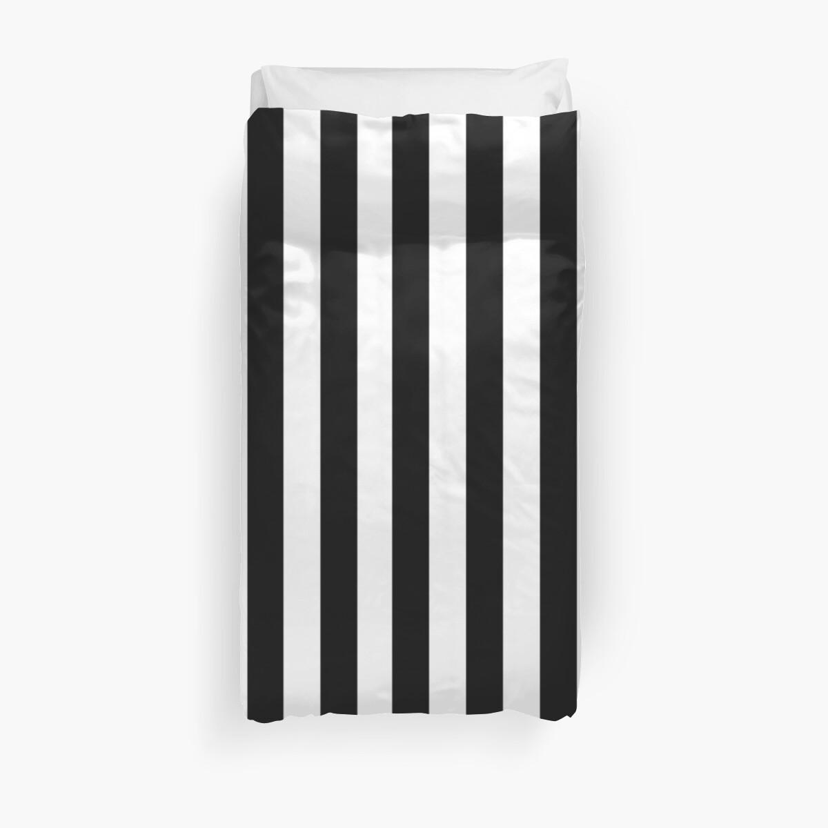 Schwarze weiße gestreifte Tagesdecke von deanworld
