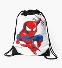 Spider Hero Drawstring Bag