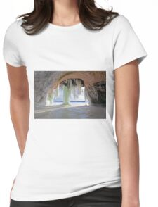 Cave and Ice Curtains on Grand Island near Munising Michigan Womens Fitted T-Shirt