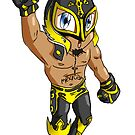 Mystery Luchador  by Moreno Artwork