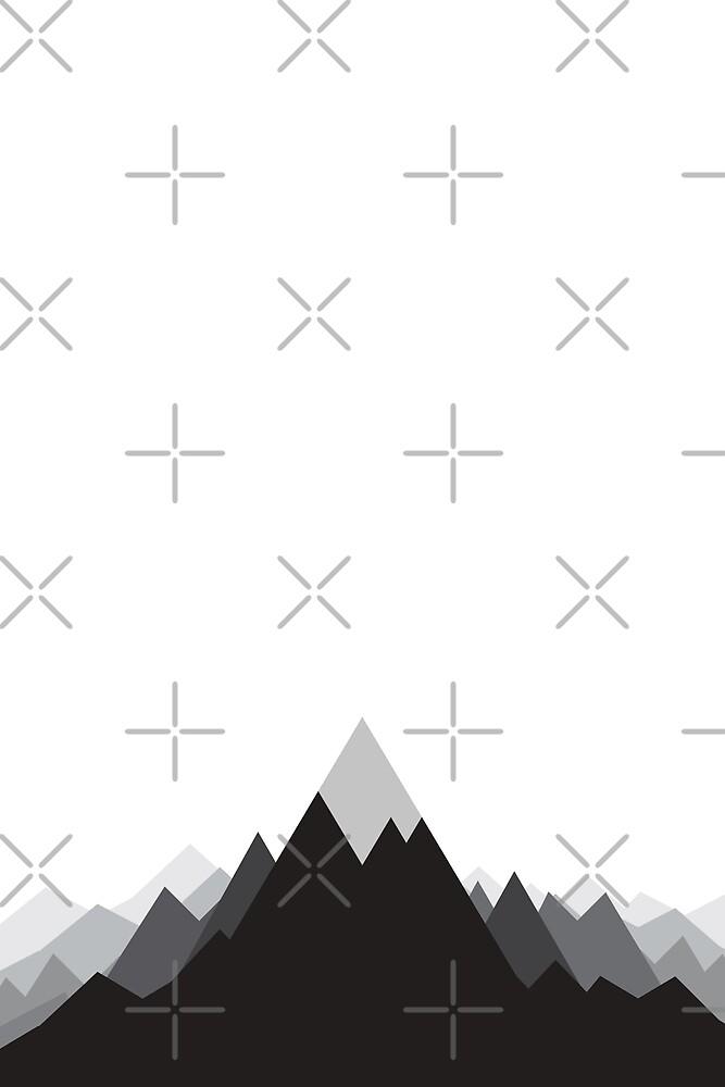 Montagnes Minimalistes Dessin Geometrique Par Ctrlprintables