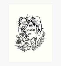 the power of femme Art Print