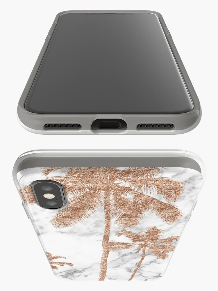 Alternative Ansicht von Rose Gold Marmor Palmen iPhone-Hülle & Cover