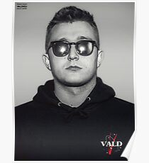 Vald Black White Poster