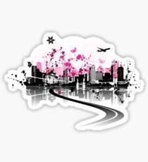 Cityscape background, urban art Sticker
