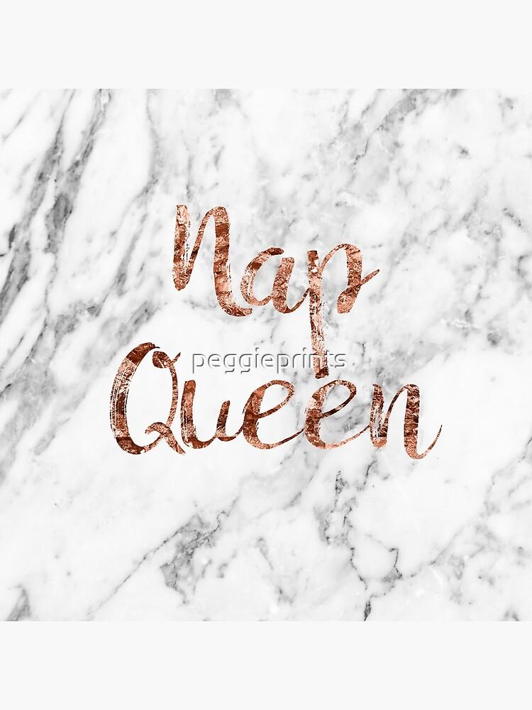 Nap Queen - mármol de oro rosa de peggieprints