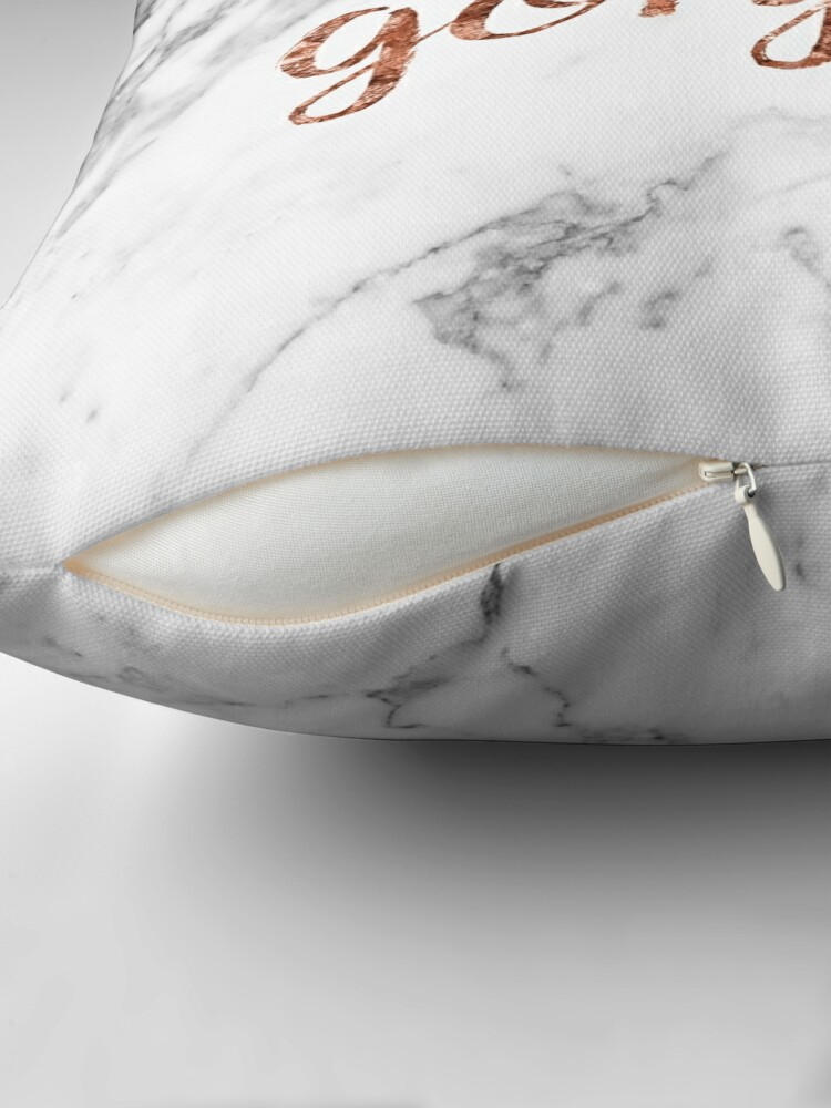 Alternate view of Hello gorgeous - rose gold marble Floor Pillow