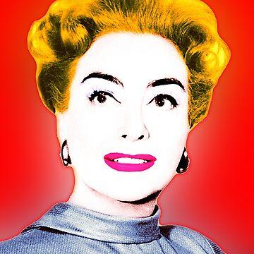 Joan Crawford Pop Art by Bazyartass