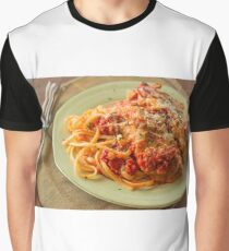 Chicken Parmesan with Linguine Graphic T-Shirt