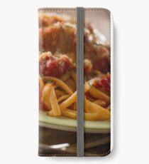Chicken Parmesan with Linguine iPhone Wallet/Case/Skin