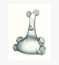Squidgy teddy bear Art Print