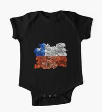 Chile Vintage Flag One Piece - Short Sleeve