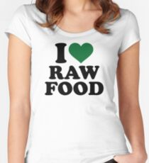 I love raw food Women's Fitted Scoop T-Shirt