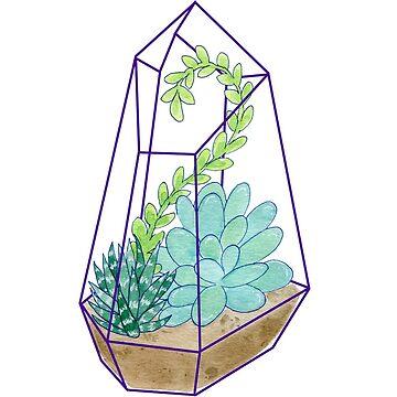 Geometric Crystal Succulent Terrarium Plants by JenniferCharlee