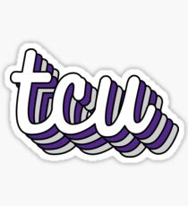 tcu Retro Sticker