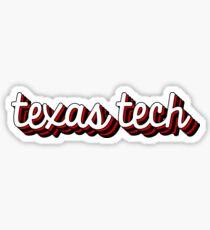 Texas Tech Retro Sticker