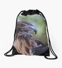 Red Tailed Hawk Drawstring Bag