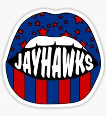 Jayhawks Lips Sticker