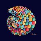 Rainbow Pangolin  by Karin Taylor