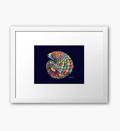 Rainbow Pangolin  Framed Print