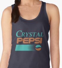 9e7133aa65d5f3 Crystal Pepsi Logo Women s Tank Top