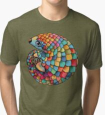 Rainbow Pangolin Tri-blend T-Shirt