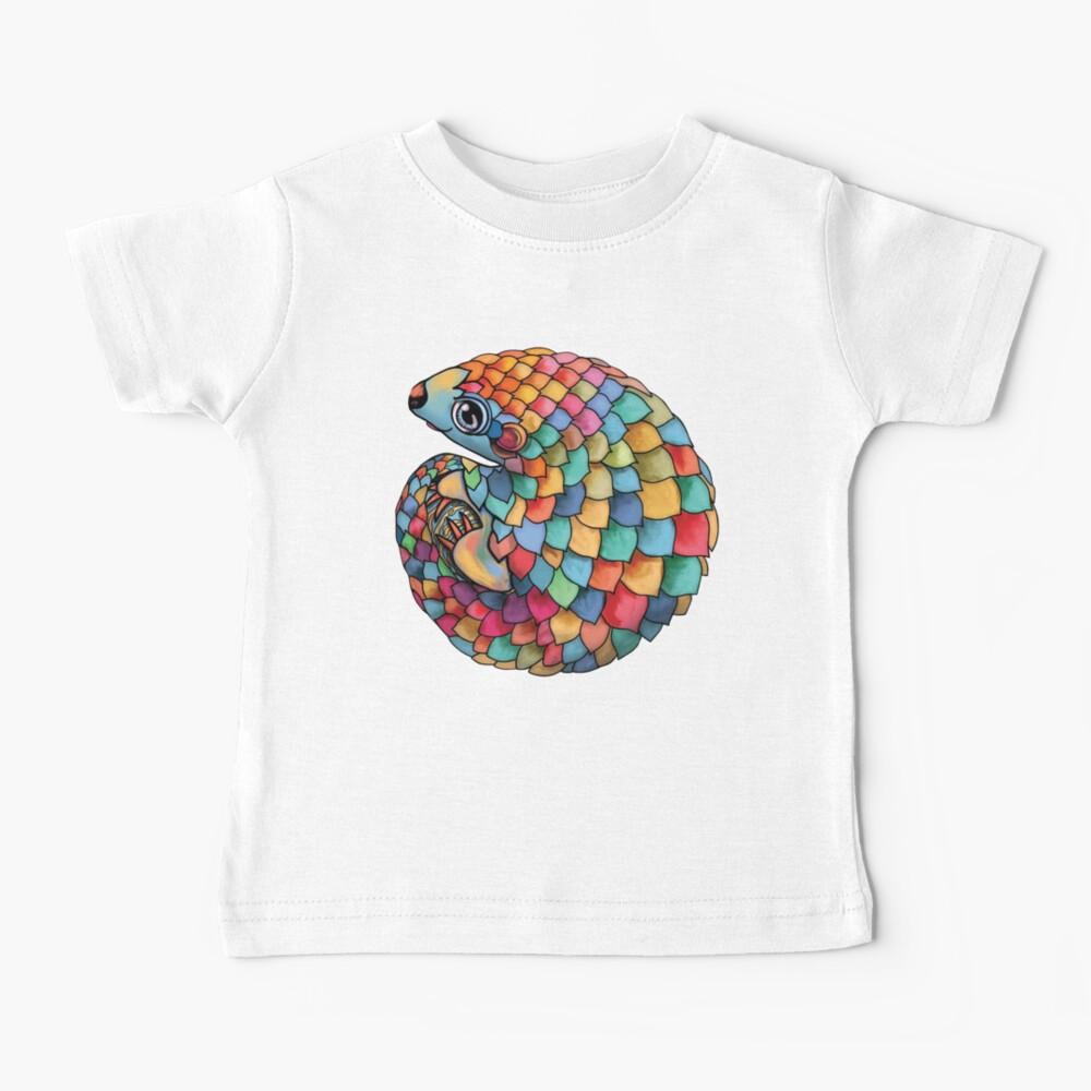 Rainbow Pangolin Baby T-Shirt