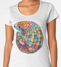 Rainbow Pangolin Women's Premium T-Shirt
