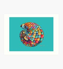 Rainbow Pangolin Art Print