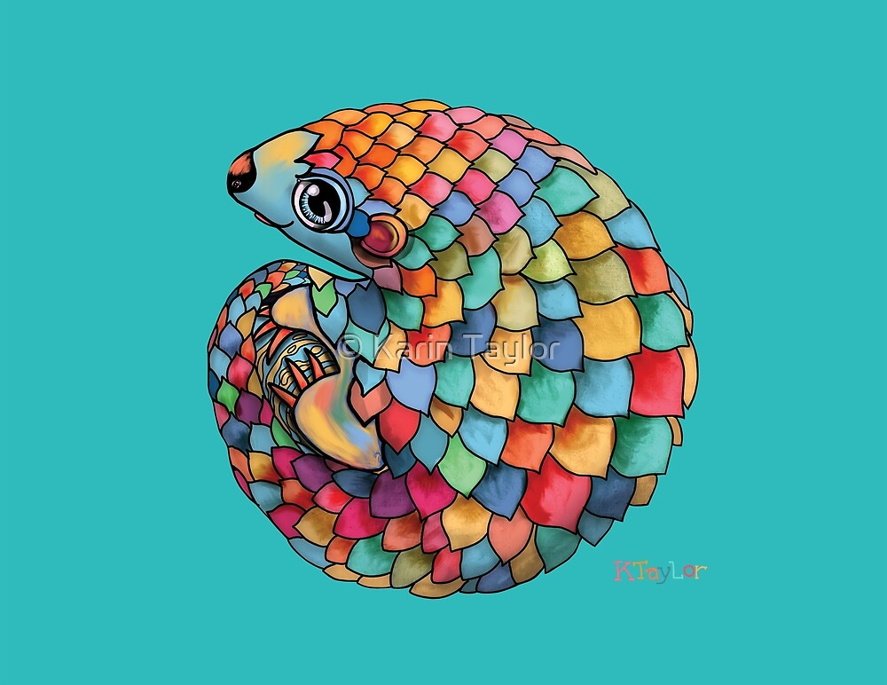 Rainbow Pangolin by Karin Taylor