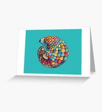 Rainbow Pangolin Greeting Card