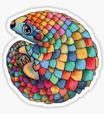 Rainbow Pangolin Sticker