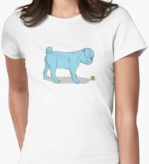 Pug and Ball Womens Fitted T-Shirt