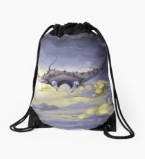 """Sky Ray and the Ants"" - Digital Mixed Media Painting Drawstring Bag"