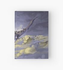 """""""Sky Ray and the Ants"""" - Digital Mixed Media Painting Hardcover Journal"""