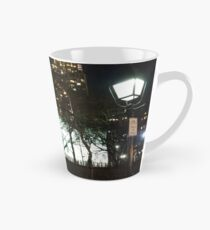 Street, City, Buildings, Photo, Day, Trees, New York, Manhattan, Brooklyn Tall Mug