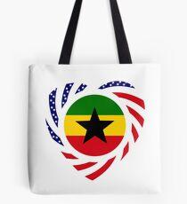 Ghanaian American Multinational Patriot Flag Series Tote Bag