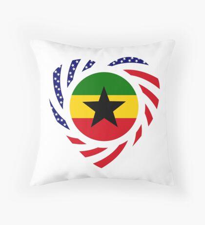 Ghanaian American Multinational Patriot Flag Series 2.0 Throw Pillow