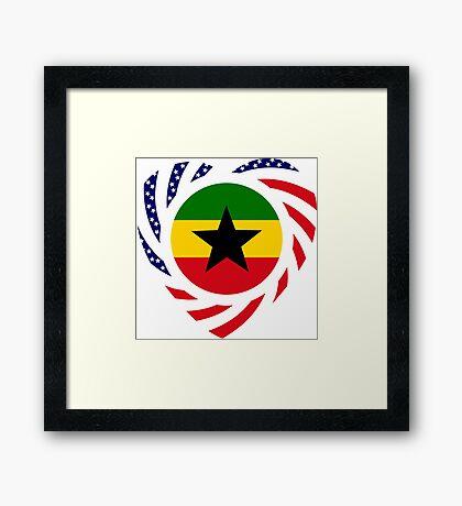 Ghanaian American Multinational Patriot Flag Series Framed Print