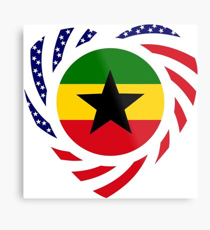 Ghanaian American Multinational Patriot Flag Series Metal Print