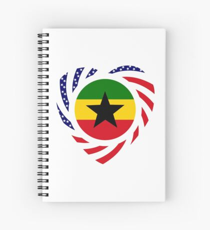 Ghanaian American Multinational Patriot Flag Series 2.0 Spiral Notebook