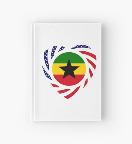 Ghanaian American Multinational Patriot Flag Series Hardcover Journal