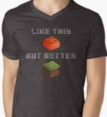 Minecraft - like legos but better Men's V-Neck T-Shirt
